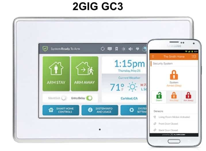 2GIG GC3 Wireless Home Security System