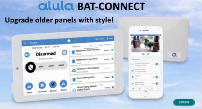 Alula BAT-CONNECT Tri-Path Cellular Communicator