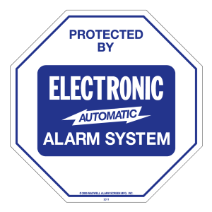 Home Security Alarm System Signs, Stickers, Decals