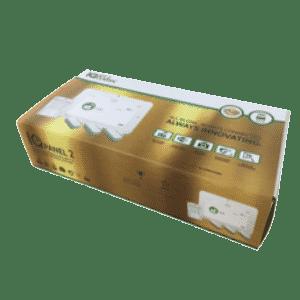 Qolsys IQpanel2 wireless security alarm kit with verizon cellular box