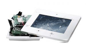 Smashed wireless control panel needing APL