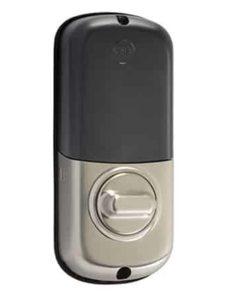 Yale Z-Wave Key Free Touchscreen Deadbolt BACK - Sarin Nickel