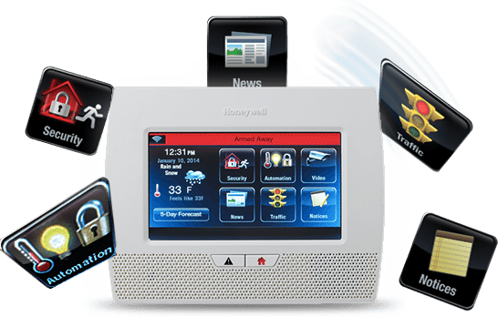 Honeywell LYNX Touch Wireless Home Security Alarm System - Easy to read