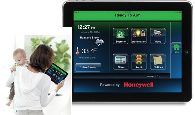 Honeywell LYNX Touch Wireless Home Security Alarm System - iOS and Android App