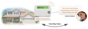 Monitoring with two-way voice capability